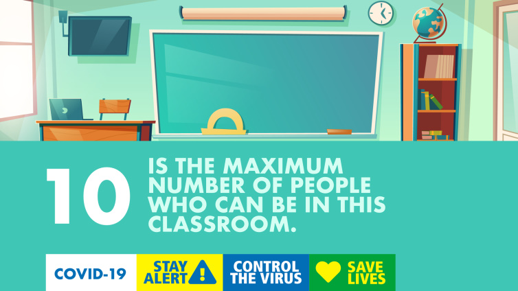 10 is the maximum number of poeple who can be in this classroom poster thumbnail