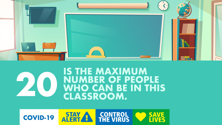 20 is the maximum number of poeple who can be in this classroom poster thumbnail