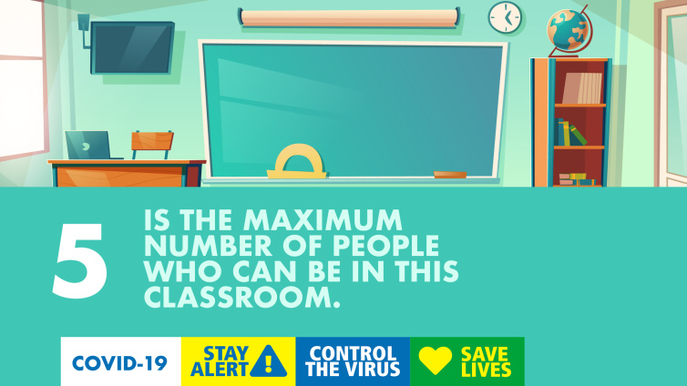 5 is the maximum number of poeple who can be in this classroom poster thumbnail
